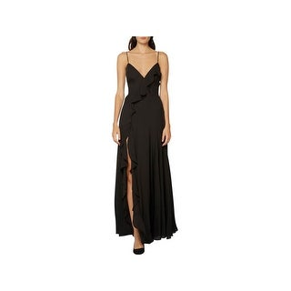 Fame And Partners Womens Evening Dress Ruffled Drop Waist