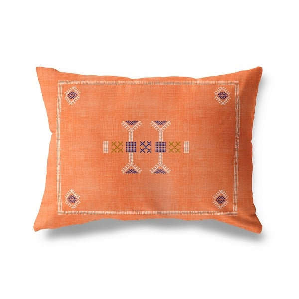 MOROCCAN KILIM ORANGE Indoor|Outdoor Pillow By Becky Bailey. Opens flyout.