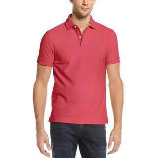 Tommy Hilfiger Ivy Polo Shirt XX-Large Carmine Pink Solid Short Sleeves