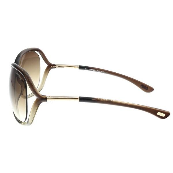 New Tom Ford FT 0076 Raquel 38F Bronze Sunglasses