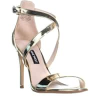 Nine West Mydebut Dress Heel Sandals, Light Gold