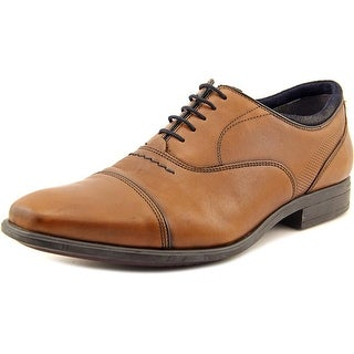Hush Puppies Evan Maddow Men W Moc Toe Leather Tan Oxford