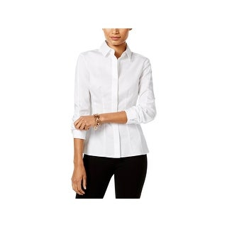 Tommy Hilfiger Womens Button-Down Top Woven Non-Iron