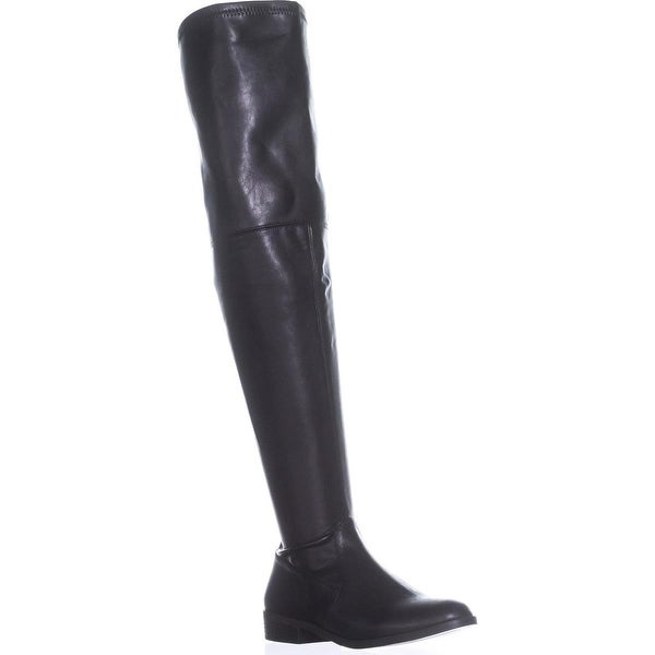 I35 Irinaa Wide Calf Over-The-Knee Boots, Black - 7 us