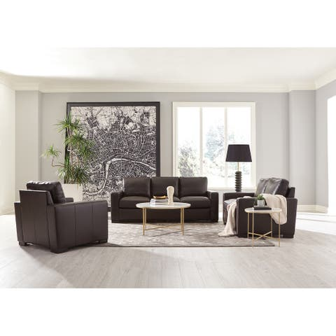 Boardmead Dark Brown Track Arms 2-piece Living Room Set