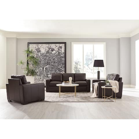 Boardmead Dark Brown Track Arms 3-piece Living Room Set