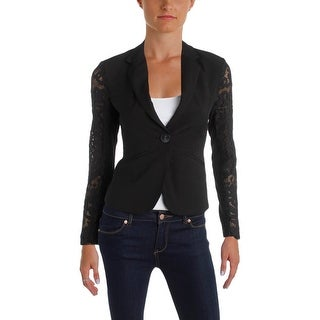 Aqua Womens Blazer Long Sleeves Button Closure