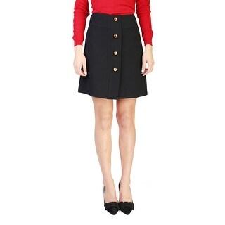 Prada Women's Virgin Wool Skirt Black