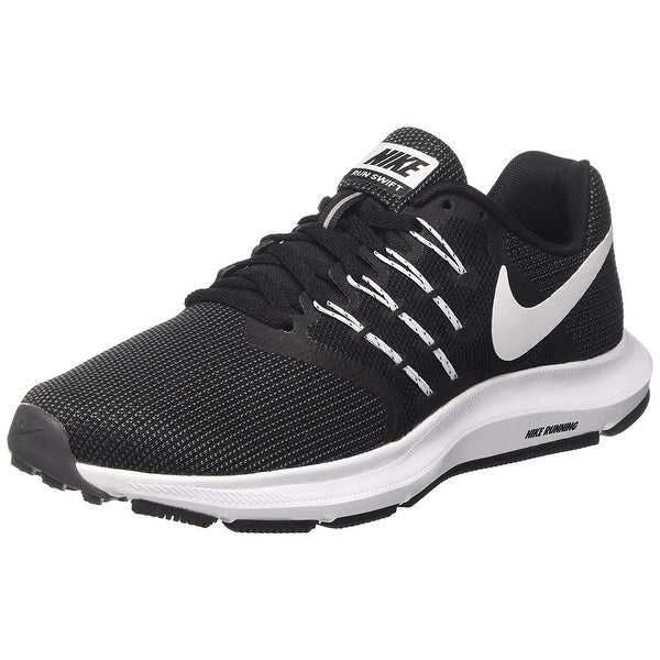 672929f6ba23ce Shop Nike Women s Run Swift Black White Dark Grey Running Shoes (8.5 ...