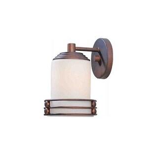 "Volume Lighting V9361 Avila 1 Light 9.25"" Height Outdoor Wall Sconce with Etched White Cased Glass - italian dusk"