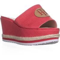 Tommy Hilfiger Batist Logo Platform Wedge Sandals, Medium Pink