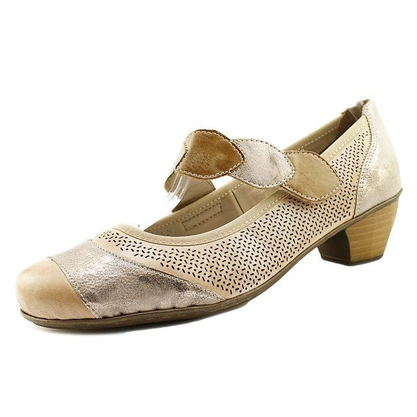 Rieker Mariah 55 Women Round Toe Leather Nude Mary Janes