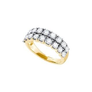 1 1/2Ctw Diamond Fashion Band Yellow-Gold 14K