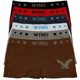 Boys 6 Pack Seamless Eagle Print B Boxer Briefs
