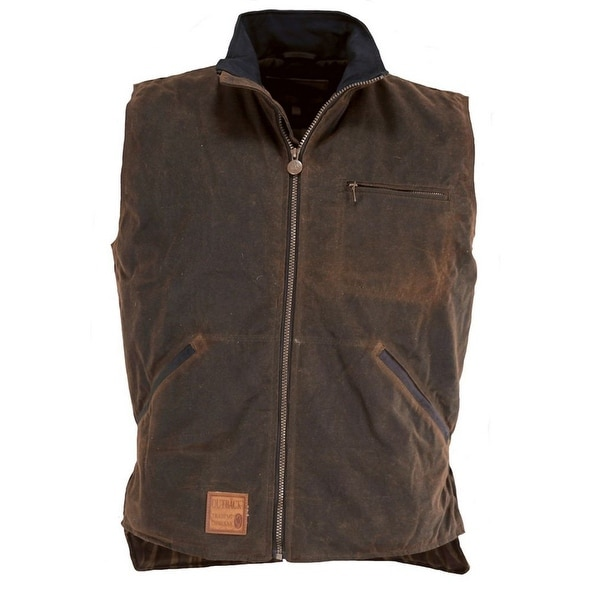 Outback Trading Vest Mens Tough Sawbuck Oilskin Hunting Zipper