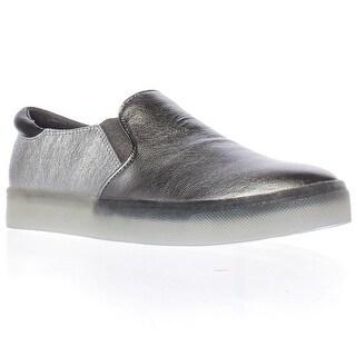 Sam Edelman Miles Slip-On Fashion Sneakers - Pewter Leather