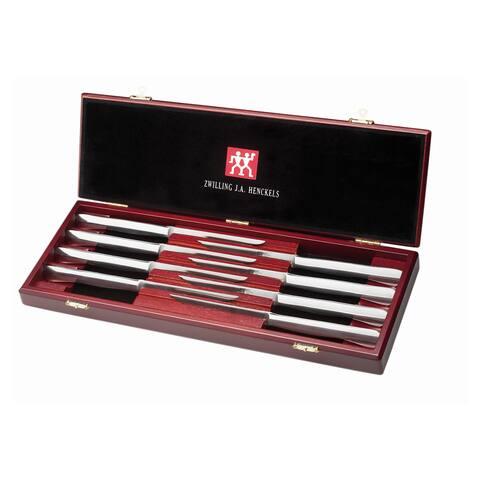ZWILLING J.A. Henckels 8-pc Stainless Steel Steak Knife Set w/Presentation Case - Stainless Steel