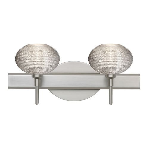 Besa Lighting 2sw 5612gl Lo 2 Light Reversible Halogen Bathroom Vanity With Glitter Gl Shades Free Shipping Today 19776592
