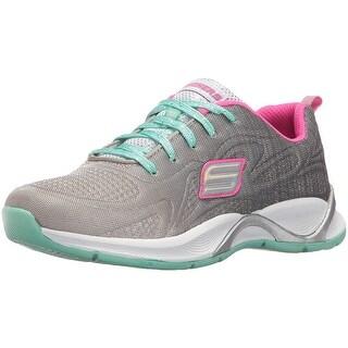 Skechers Kids Girls' Hi Glitz Sneaker,White,