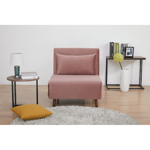 Tustin Upholstered Convertible Lounge/ Sleeper Chair