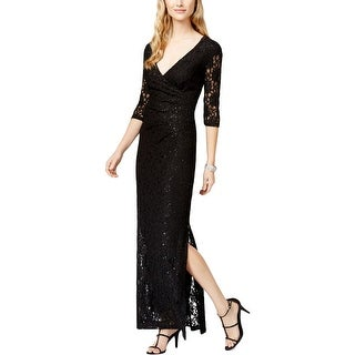 Connected Apparel Womens Formal Dress Lace Sequined