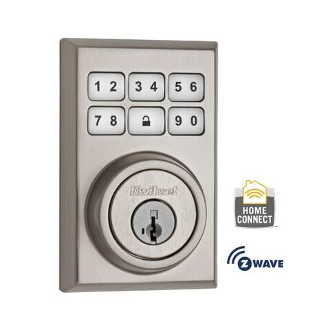 Kwikset 910CNT-ZW SmartCode Contemporary Electronic Deadbolt with