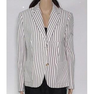 Lauren by Ralph Lauren Women's Jacket White Ivory Size 6 Striped