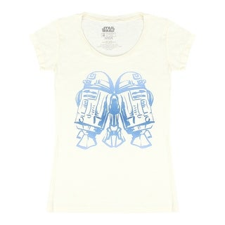 Star Wars R2-D2 Mirrored Women's Beige T-shirt