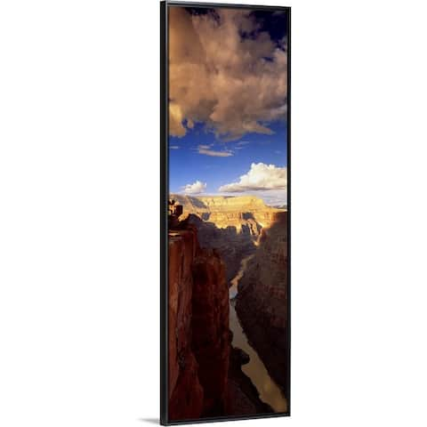 """""""Toroweap Point Grand Canyon National Park AZ"""" Black Float Frame Canvas Art"""