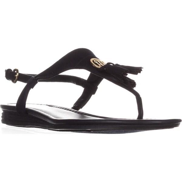 7f57add6543 Shop Tommy Hilfiger Harte T-Strap Tassel Flat Sandals