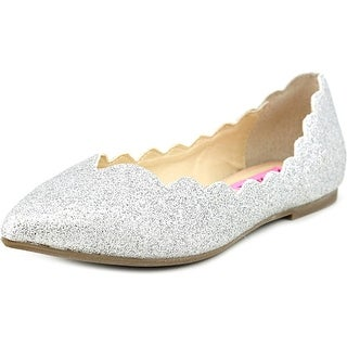 Betsey Johnson Crosbey Women  Pointed Toe Synthetic Silver Flats
