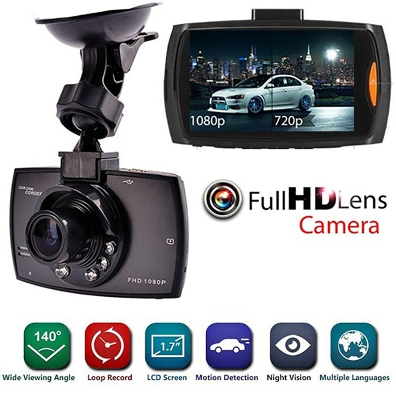 Shop 2 2inch Car Camcorder Wide Angle Full Hd Screen 1080p 720p Night Vision Car Video Camcorder Recorder Auto Dvr Front Camera Overstock 31670999