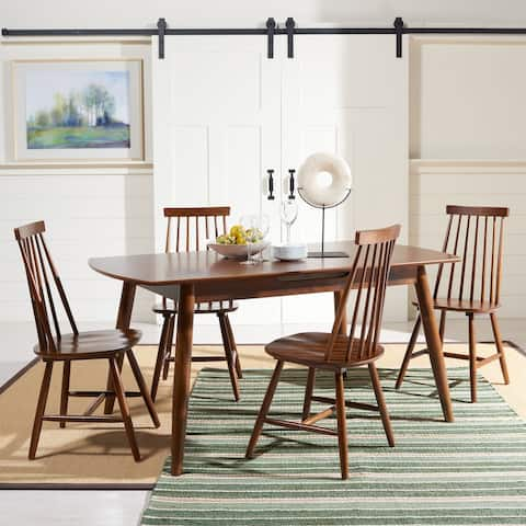 """SAFAVIEH Kyoga Auto-Mechanism Extension Dining Room Table - 63"""" W x 35"""" L x 29"""" H"""