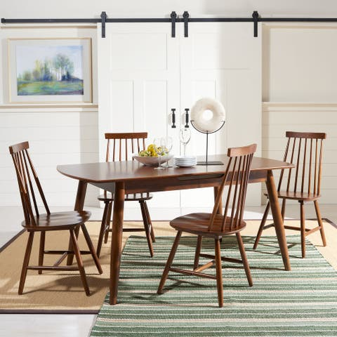"SAFAVIEH Kyoga Auto-Mechanism Extension Dining Room Table - 63"" W x 35"" L x 29"" H"