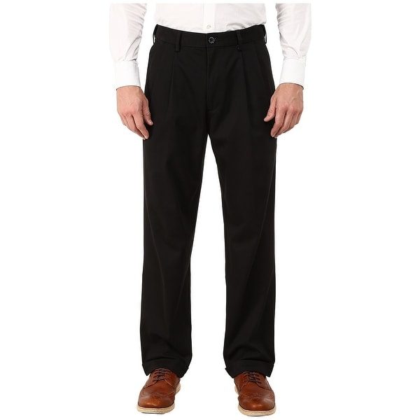 Dockers Mens Khaki Pants Black Size 40x30 Relaxed Fit Pleated Front. Opens flyout.