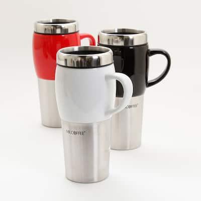 Mr. Coffee Traverse 16oz Travel Mug with Lid