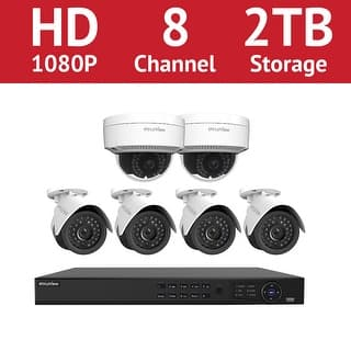 LaView 8 Channel 1080p IP NVR with (4) 1080p Bullet Cameras and (2) 1080p Dome Cameras and a 2TB HDD https://ak1.ostkcdn.com/images/products/is/images/direct/3fe86415828f42c3ecee7b32f8119dd788bccd89/LaView-8-Channel-1080p-IP-NVR-with-%284%29-1080p-Bullet-Cameras-and-%282%29-1080p-Dome-Cameras-and-a-2TB-HDD.jpg?impolicy=medium