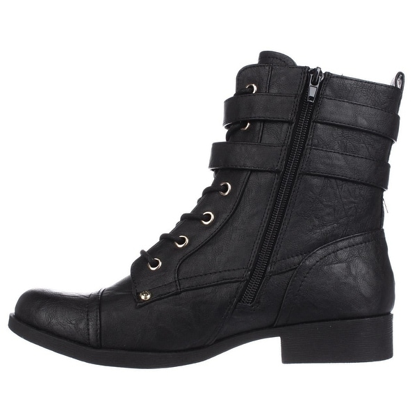 G by Guess Womens Bell Cap Toe Ankle Combat Boots