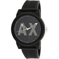 Armani Exchange Men's  Black Rubber Japanese Quartz Dress Watch