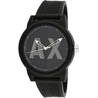 Armani Exchange Men's AX1451 Black Rubber Japanese Quartz Dress Watch