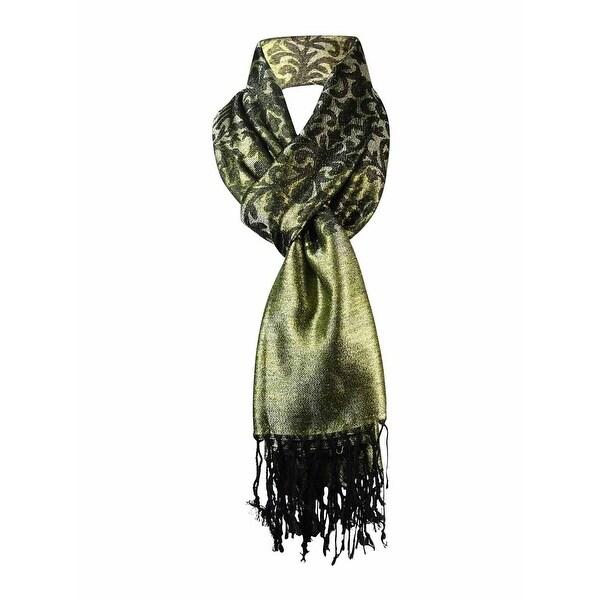 Style & Co. Women's Metallic Jacquard Evening Wrap Scarf - os