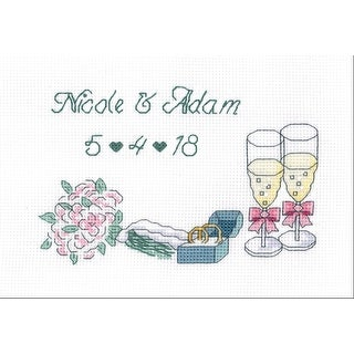 """Wedding Day Counted Cross Stitch Kit-7""""X5"""" 14 Count"""