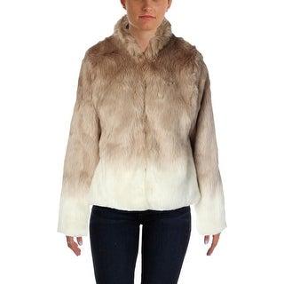 Sanctuary Womens Chubby Faux Fur Coat