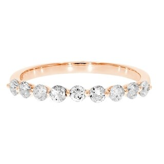 Brand New 0.50 Carat Round Brilliant Cut Natural Diamond Wedding Band