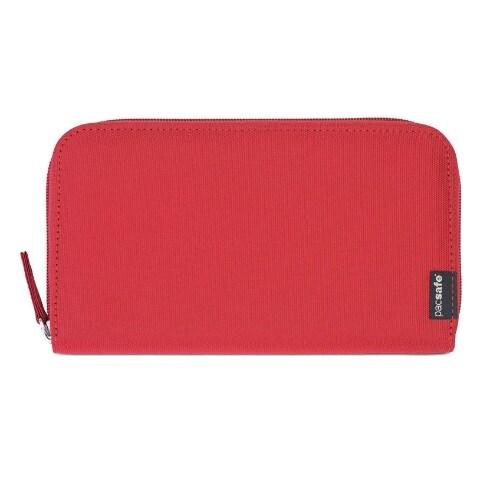 Pacsafe RFIDsafe LX250 - Chili RFID Blocking Zippered Travel Wallet