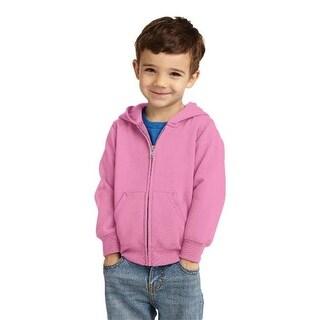 CAR78TZH Toddler Full Zip Hooded Sweatshirt, Candy Pink - 2