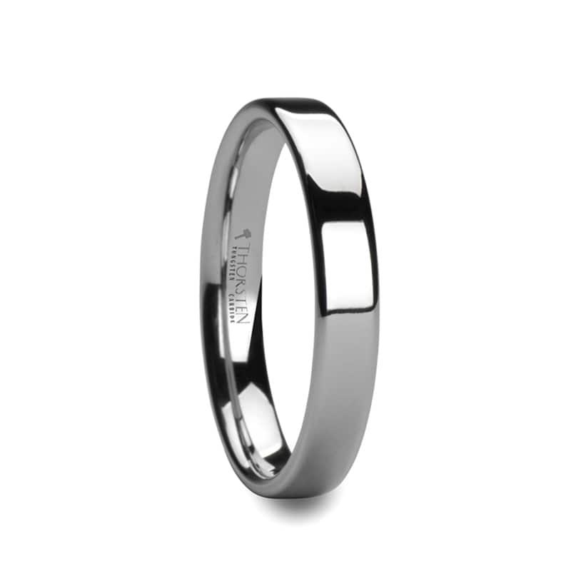 Cobalt Promise Ring Men Women 6mm Flat Brushed Pipe Cut Cobalt Wedding Band Men Women