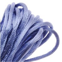Rayon Satin Rattail 1mm Cord - Knot & Braid - Periwinkle Purple (6 Yards)