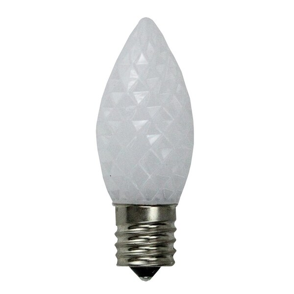 Pack of 25 Faceted LED C9 Pure White Christmas Replacement Bulbs