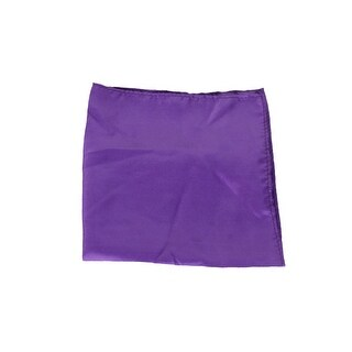 Club Room Men'S Purple Simple Solid Silk Pocket Square OS